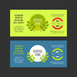 Springtime banners set Royalty Free Stock Photography