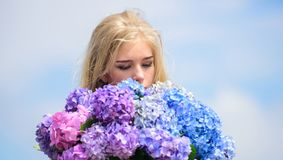 Springtime bloom. Natural beauty concept. Skin care and beauty treatment. Gentle flower for delicate woman. Pure beauty royalty free stock photos