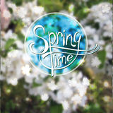 Springtime blurred vector background Stock Photo