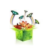 Springtime box Stock Photo