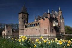 Springtime castle stock photos