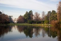 Springtime in city park in Milan, Italy Stock Photography