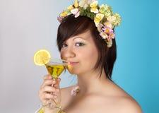 Springtime cocktail Stock Image