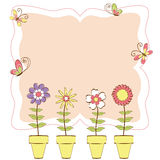 Springtime colorful floral butterfly greeting card Royalty Free Stock Image