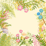 Springtime Colorful Flower Garden Party Background royalty free illustration