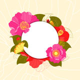 Springtime Colorful Flower Greeting Card Stock Image