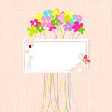 Springtime Colorful Flower Greeting Card Stock Images