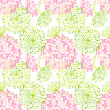 Springtime Colorful Flower Seamless Pattern Royalty Free Stock Photography