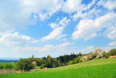Springtime country landscape Royalty Free Stock Image
