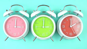 Springtime Daylight Saving Time Clocks. Turning the clocks back one hour for Springtime Daylight Savings Time Stock Photography