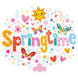 Springtime. Decorative lettering type design Stock Photos