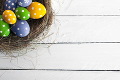 Springtime Easter nest with eggs Royalty Free Stock Image