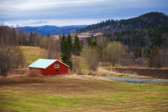 Springtime, empty rural Norwegian landscape Stock Image