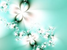 Springtime fantasy. Fractal image of flowers Royalty Free Stock Photo