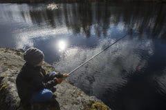 Springtime fishing Royalty Free Stock Photos