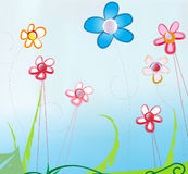 Springtime flowers. Springtime design with colorful and abstract flowers Royalty Free Stock Image