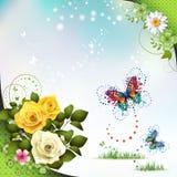 Springtime with flowers Royalty Free Stock Photo