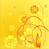 Springtime flowers. Spring time flowers decoration. Vector illustration Royalty Free Stock Images