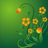Springtime flowers. Spring time flowers decoration. Vector illustration Royalty Free Stock Photography