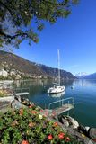 Springtime at Geneva lake, Montreux, Switzerland Royalty Free Stock Photo