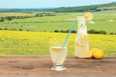 Springtime glass of lemonade Royalty Free Stock Photos