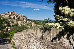 Springtime in Gordes Stock Photo