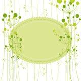 Springtime green dandelion greeting card Stock Images