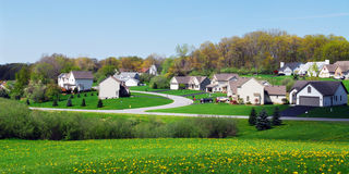 Springtime Homes Stock Photography