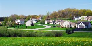 Springtime Homes Stock Photography