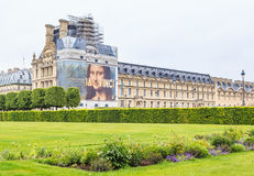 Springtime in Jardin des Tuileries with Musee du Louvre beyond, Stock Images