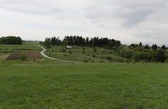 Springtime landscape in Plana Stock Photos