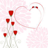 Springtime Love Card with Flower Stock Photos