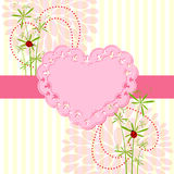 Springtime Love Card with Flower Royalty Free Stock Photo