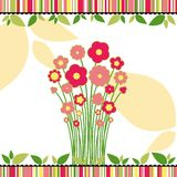 Springtime love greeting card with flowers Stock Image
