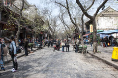 Springtime in the old town of Xian, China Stock Photos