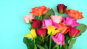 Springtime overhead with beautiful fresh flowers Royalty Free Stock Photography