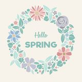 Springtime - pastel coloured poster. royalty free stock photo