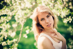 Springtime portrait stock image