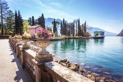 Springtime in Riva del Garda royalty free stock photography