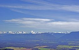 Springtime in the Rocky Mountains. Aerial view of the Rocky Mountains of Montana in the Springtime Stock Photos
