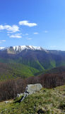 Springtime scenery. Colourful picture of carpathian mountain range in spring time Stock Photography