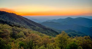 Springtime at Scenic Blue Ridge Parkway Appalachians Smoky Mount Royalty Free Stock Image