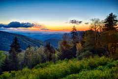 Springtime at Scenic Blue Ridge Parkway Appalachians Smoky Mount Stock Images