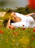 Springtime Serenity, enjoying nature Royalty Free Stock Photography