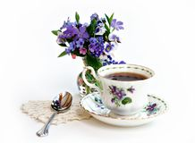 Springtime Tea Royalty Free Stock Photos