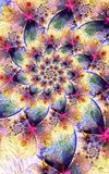 Springtime Spiral. Springtime Theme Abstract Spiral Fractal Pattern Stock Images