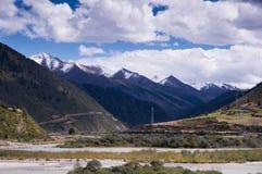 Springtime in Tibetan plateau Stock Photo