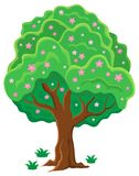 Springtime tree topic image 2. Eps10 vector illustration Stock Photos