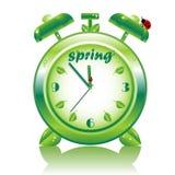 Springtime, vector alarm clock Royalty Free Stock Photography