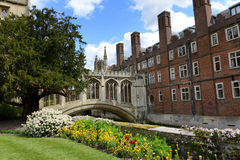 Springtime view of the Bridge Of Sighs, Cambridge Stock Photos